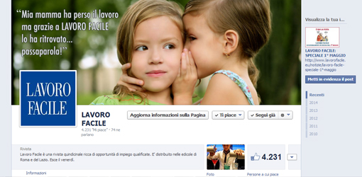 Gestione campagna annuale social media marketing